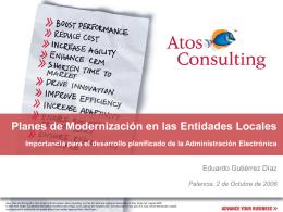 Planes de Modernización en las Entidades Locales