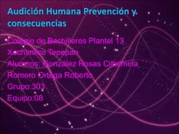 Audicion humana prevencion y consecuencias