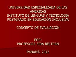 profesora eira beltran panamá, 2012