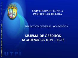 ¿Porqué adoptar un Sistema de Créditos en la UTPL?