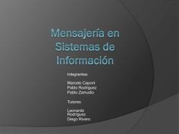 Presentación Mensajeria en Sistemas Informacion v0.2