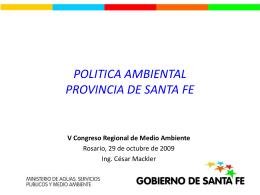 07-2-Politica Ambiental Pcial 2009