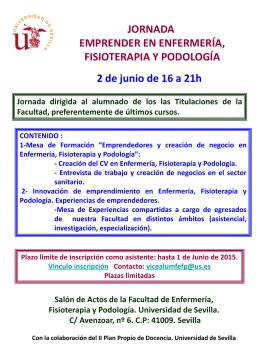 Jornada - Facultad de Enfermería, Fisioterapia y Podología