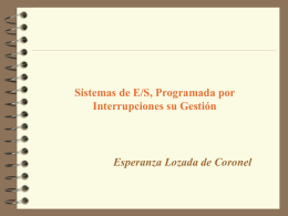 E/S Mediante Interrupciones
