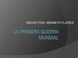 LA PRIMERA GUERRA MUNDIAL - 6thgrade