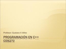 Programación en C++ COIS270