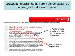"""El argumento de Stevins: """"Conservacion de energia y equlibrio"""""""
