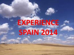 Experience Spain June of 2014