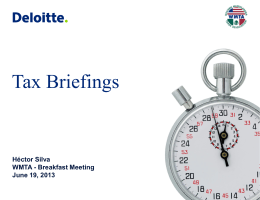 Tax Briefings
