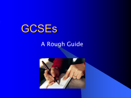 to the GCSE guide for current Year 11