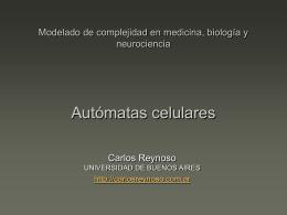 Modelado de complejidad en medicina, biología y neurociencia