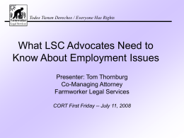 LSC Employment Issue Powerpoint