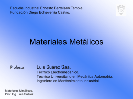 PPT Materiales Metálicos