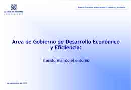 Reordenación del Área de Gobierno Desarrollo Económico