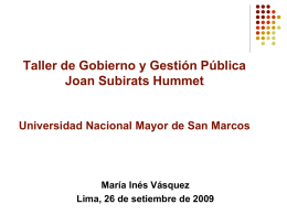 Políticas Públicas – María Inés Vásquez