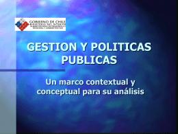 GESTION Y POLITICAS PUBLICAS