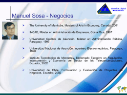 Consultores - Manuel Sosa