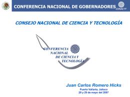 intervención del Lic. Juan Carlos Romero Hicks