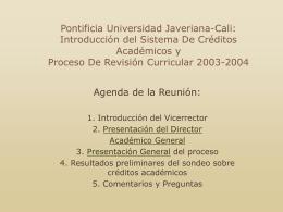 presentacion2 - Pontificia Universidad Javeriana, Cali