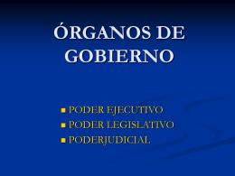 ÓRGANOS DE GOBIERNO - educación social y cívica