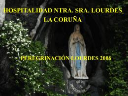 Presentación de PowerPoint - Hospitalidad de Lourdes La Coruña