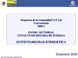 Status Fondo de Sustentabilidad Energética