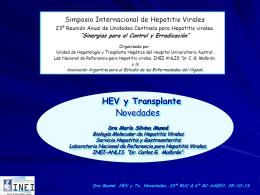HEV y trasplante, novedades