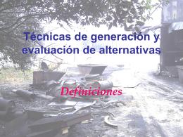 28-Tecnicas de generacion y evaluacion de alternativas