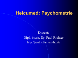 Heicumed: Psychometrie