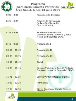 Ver Programa del Seminario
