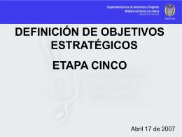 etapa 5. Definición de objetivos estratégicos