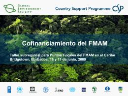 Cofinanciamiento del FMAM