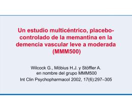 Un estudio multicéntrico, placebo-controlado de la