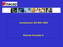 Actualización ISO 9001-2000