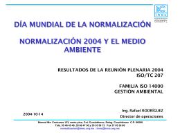 normalización y medio ambiente 1