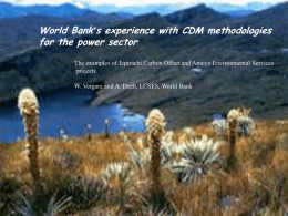 this file - Carbon Finance at the World Bank