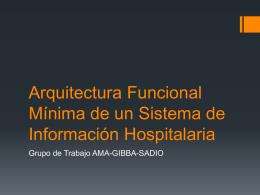 Arquitectura Funcional Mínima de un Sistema de Información