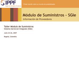 Información proveedores
