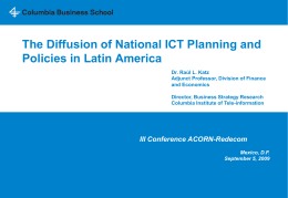 The Diffusion of National ICT Planning and Policies in Latin America