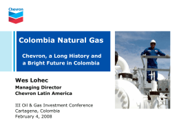 Chevron Latin America and Caribbean