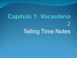 Capítulo 1: Vocaulario 2