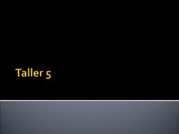 Taller 5 - ETEG503TURABO
