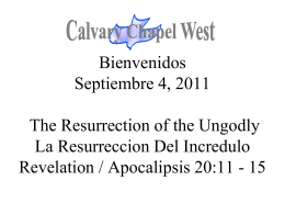 Revelation 20:11 - Calvary Chapel West