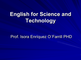 clase 32. english for science & technology.