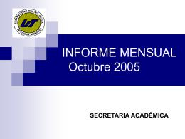 Indicadores académicos octubre05