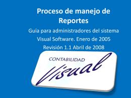 Proceso de manejo de Reportes