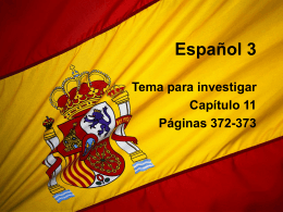 Español 3 - Ms. Desrochers` website