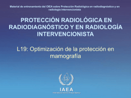 Optimización de la protección en mamografía