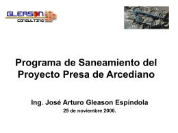Programa de Saneamiento del Proyecto Presa