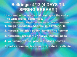 Bellringer 4/12 (4 DAYS TIL SPRING BREAK!!!)